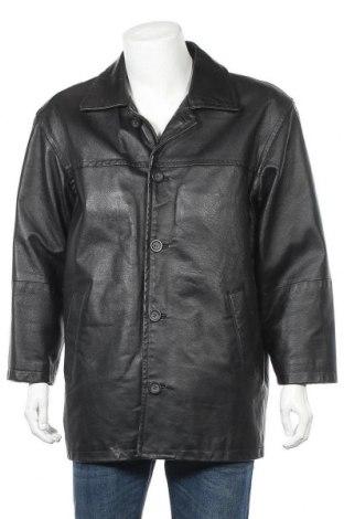 Мъжко кожено яке Angelo Litrico, Размер S, Цвят Черен, Естествена кожа, Цена 17,59лв.