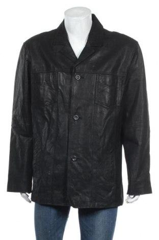 Мъжко кожено яке Clockhouse, Размер XXL, Цвят Черен, Естествена кожа, Цена 22,05лв.