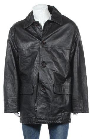 Ανδρικό δερμάτινο μπουφάν Conbipel, Μέγεθος XL, Χρώμα Μαύρο, Γνήσιο δέρμα, Τιμή 14,55€