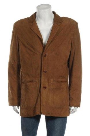 Мъжко кожено яке Heine, Размер XL, Цвят Кафяв, Естествен велур, Цена 15,46лв.
