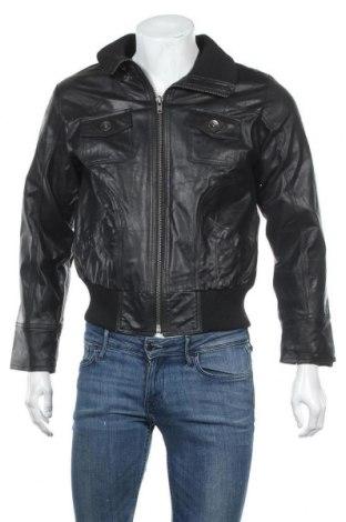 Ανδρικό δερμάτινο μπουφάν Just For You, Μέγεθος S, Χρώμα Μαύρο, Γνήσιο δέρμα, Τιμή 26,19€