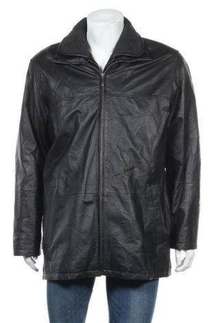 Ανδρικό δερμάτινο μπουφάν SAKI, Μέγεθος L, Χρώμα Μαύρο, Γνήσιο δέρμα, Τιμή 15,00€