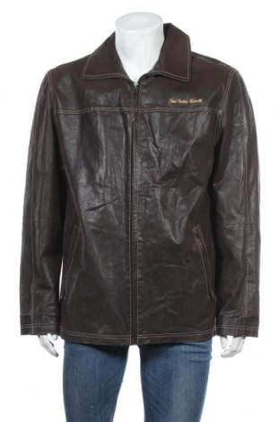 Pánská kožená bunda  Tom Tailor, Velikost L, Barva Hnědá, Přírodní velur , Cena  797,00Kč