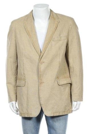 Мъжко сако Peter Fitch, Размер L, Цвят Бежов, 75% памук, 25% лен, Цена 6,83лв.
