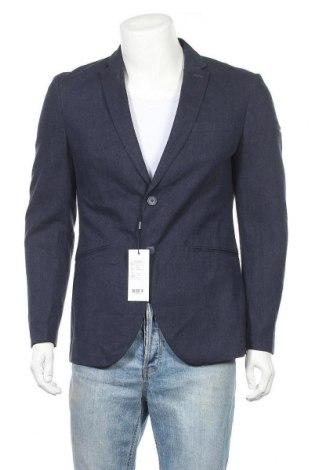 Мъжко сако Premium By Jack & Jones, Размер M, Цвят Син, 55% лен, 45% памук, Цена 80,25лв.