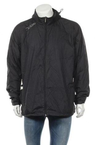 Ανδρικό αθλητικό μπουφάν Kappa, Μέγεθος XXL, Χρώμα Μαύρο, Πολυαμίδη, Τιμή 19,74€