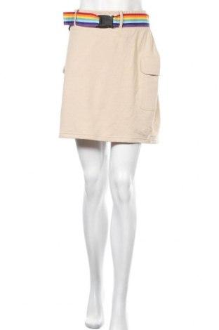 Φούστα Missguided, Μέγεθος XL, Χρώμα  Μπέζ, Τιμή 5,20€