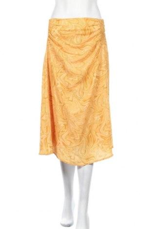 Пола Selected Femme, Размер M, Цвят Оранжев, 100% полиестер, Цена 46,50лв.