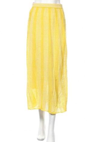 Пола Stefanel, Размер XS, Цвят Жълт, 87% лен, 13% полиамид, Цена 118,15лв.
