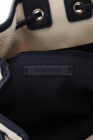Раница Reserved, Цвят Екрю, Текстил, еко кожа, Цена 18,90лв.