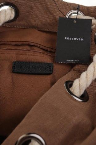 Раница Reserved, Цвят Кафяв, Текстил, Цена 23,52лв.