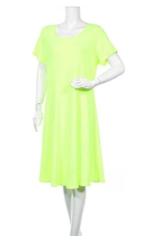 Рокля, Размер XXL, Цвят Зелен, 95% памук, 5% еластан, Цена 29,40лв.