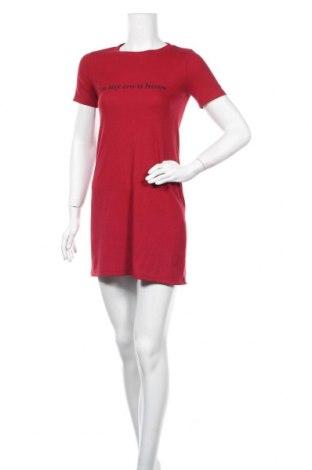 Φόρεμα Bershka, Μέγεθος S, Χρώμα Κόκκινο, 96% πολυεστέρας, 4% ελαστάνη, Τιμή 22,73€
