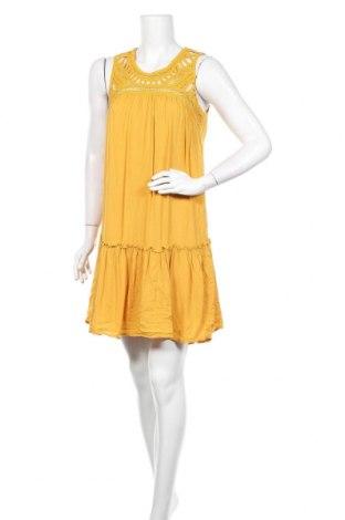 Рокля Yessica, Размер S, Цвят Жълт, Вискоза, Цена 9,56лв.