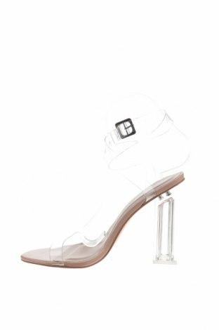 Σανδάλια Boohoo, Μέγεθος 38, Χρώμα Λευκό, Πολυουρεθάνης, Τιμή 13,40€