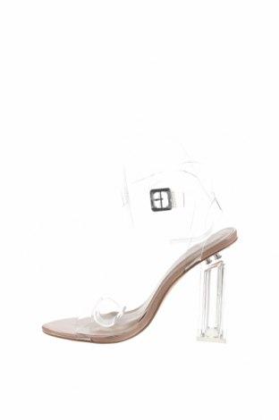 Σανδάλια Boohoo, Μέγεθος 37, Χρώμα Λευκό, Πολυουρεθάνης, Τιμή 13,40€
