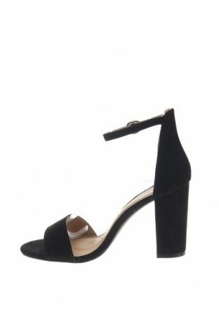 Σανδάλια Boohoo, Μέγεθος 39, Χρώμα Μαύρο, Κλωστοϋφαντουργικά προϊόντα, Τιμή 16,12€