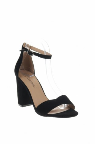 Σανδάλια Boohoo, Μέγεθος 38, Χρώμα Μαύρο, Κλωστοϋφαντουργικά προϊόντα, Τιμή 14,74€