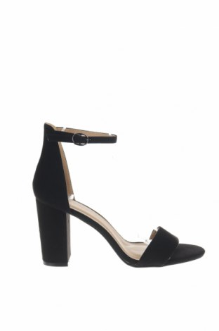 Σανδάλια Boohoo, Μέγεθος 41, Χρώμα Μαύρο, Κλωστοϋφαντουργικά προϊόντα, Τιμή 16,73€
