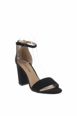 Σανδάλια Boohoo, Μέγεθος 38, Χρώμα Μαύρο, Κλωστοϋφαντουργικά προϊόντα, Τιμή 16,73€