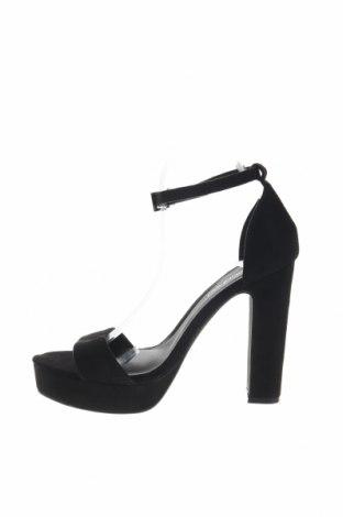 Σανδάλια Boohoo, Μέγεθος 40, Χρώμα Μαύρο, Κλωστοϋφαντουργικά προϊόντα, Τιμή 15,21€