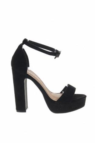 Σανδάλια Boohoo, Μέγεθος 37, Χρώμα Μαύρο, Κλωστοϋφαντουργικά προϊόντα, Τιμή 15,21€