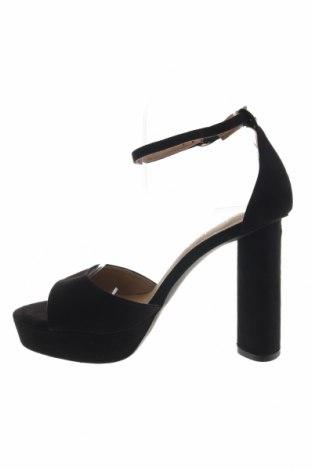 Σανδάλια Boohoo, Μέγεθος 39, Χρώμα Μαύρο, Κλωστοϋφαντουργικά προϊόντα, Τιμή 15,21€