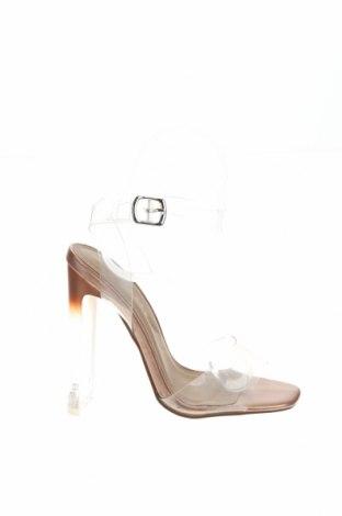 Σανδάλια Boohoo, Μέγεθος 36, Χρώμα Λευκό, Πολυουρεθάνης, Τιμή 16,73€