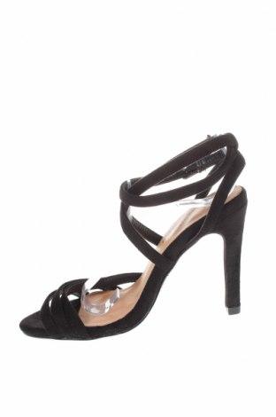 Σανδάλια Boohoo, Μέγεθος 36, Χρώμα Μαύρο, Κλωστοϋφαντουργικά προϊόντα, Τιμή 14,20€