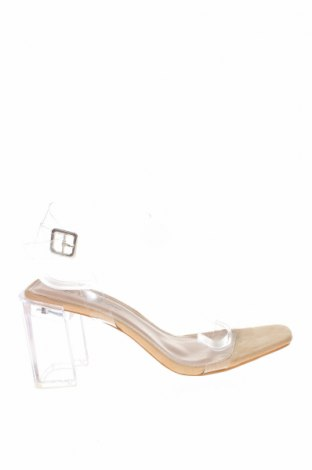 Σανδάλια Boohoo, Μέγεθος 39, Χρώμα Λευκό, Πολυεστέρας, Τιμή 16,12€