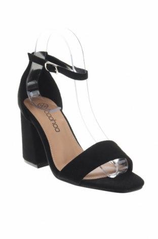 Σανδάλια Boohoo, Μέγεθος 36, Χρώμα Μαύρο, Κλωστοϋφαντουργικά προϊόντα, Τιμή 16,73€
