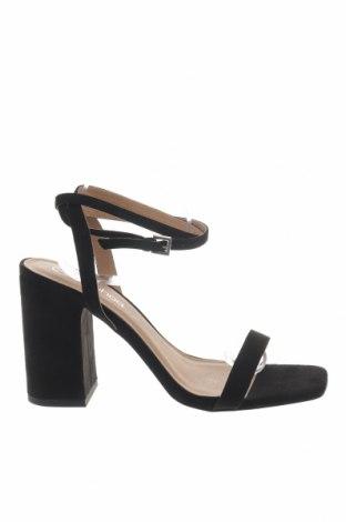 Σανδάλια Boohoo, Μέγεθος 40, Χρώμα Μαύρο, Κλωστοϋφαντουργικά προϊόντα, Τιμή 14,20€