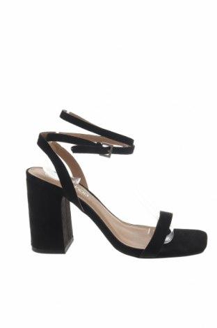 Σανδάλια Boohoo, Μέγεθος 39, Χρώμα Μαύρο, Κλωστοϋφαντουργικά προϊόντα, Τιμή 14,20€