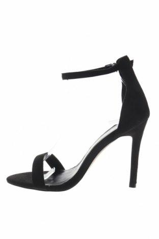 Σανδάλια Boohoo, Μέγεθος 39, Χρώμα Μαύρο, Κλωστοϋφαντουργικά προϊόντα, Τιμή 13,40€