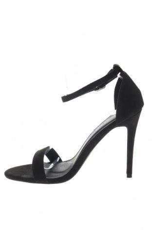 Σανδάλια Boohoo, Μέγεθος 40, Χρώμα Μαύρο, Κλωστοϋφαντουργικά προϊόντα, Τιμή 13,40€