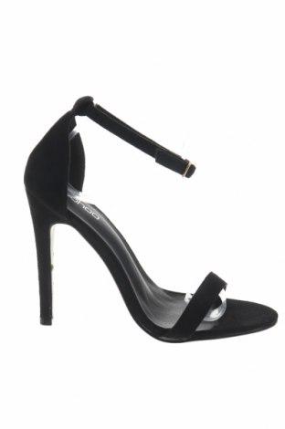 Σανδάλια Boohoo, Μέγεθος 37, Χρώμα Μαύρο, Κλωστοϋφαντουργικά προϊόντα, Τιμή 13,40€