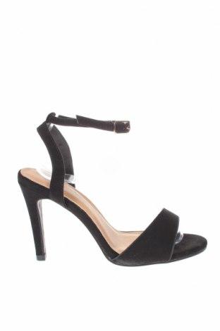 Σανδάλια Boohoo, Μέγεθος 38, Χρώμα Μαύρο, Κλωστοϋφαντουργικά προϊόντα, Τιμή 14,60€