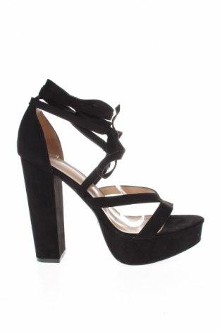 Σανδάλια Boohoo, Μέγεθος 41, Χρώμα Μαύρο, Κλωστοϋφαντουργικά προϊόντα, Τιμή 17,64€