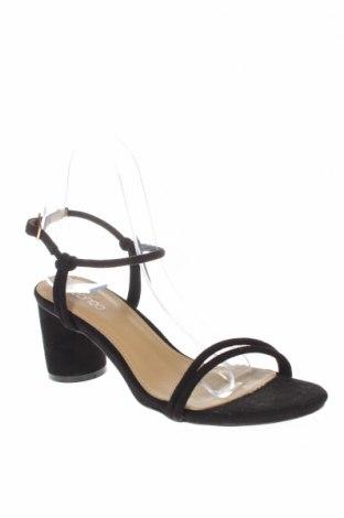 Σανδάλια Boohoo, Μέγεθος 38, Χρώμα Μαύρο, Κλωστοϋφαντουργικά προϊόντα, Τιμή 18,25€