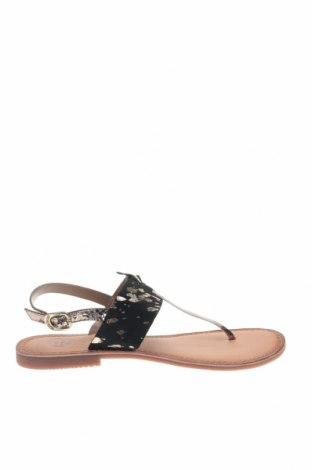 Σανδάλια Gioseppo, Μέγεθος 39, Χρώμα Μαύρο, Γνήσιο δέρμα, φυσική τρίχα, Τιμή 27,21€