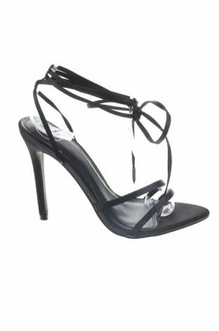 Sandály Missguided, Velikost 35, Barva Černá, Textile , Cena  385,00Kč