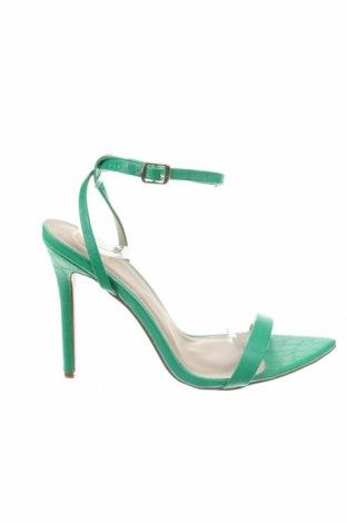 Sandály Missguided, Velikost 39, Barva Zelená, Eko kůže, Cena  453,00Kč
