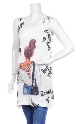 Дамски пуловер, Размер L, Цвят Бял, Цена 23,40лв.