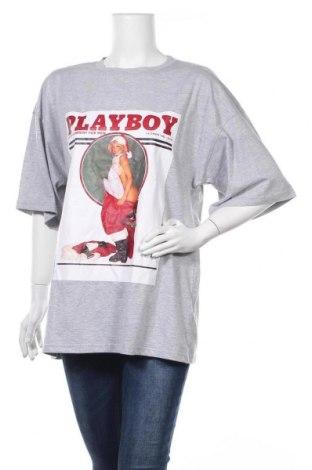 Τουνίκ Playboy x Missguided, Μέγεθος S, Χρώμα Γκρί, 55% πολυεστέρας, 45% βαμβάκι, Τιμή 7,42€