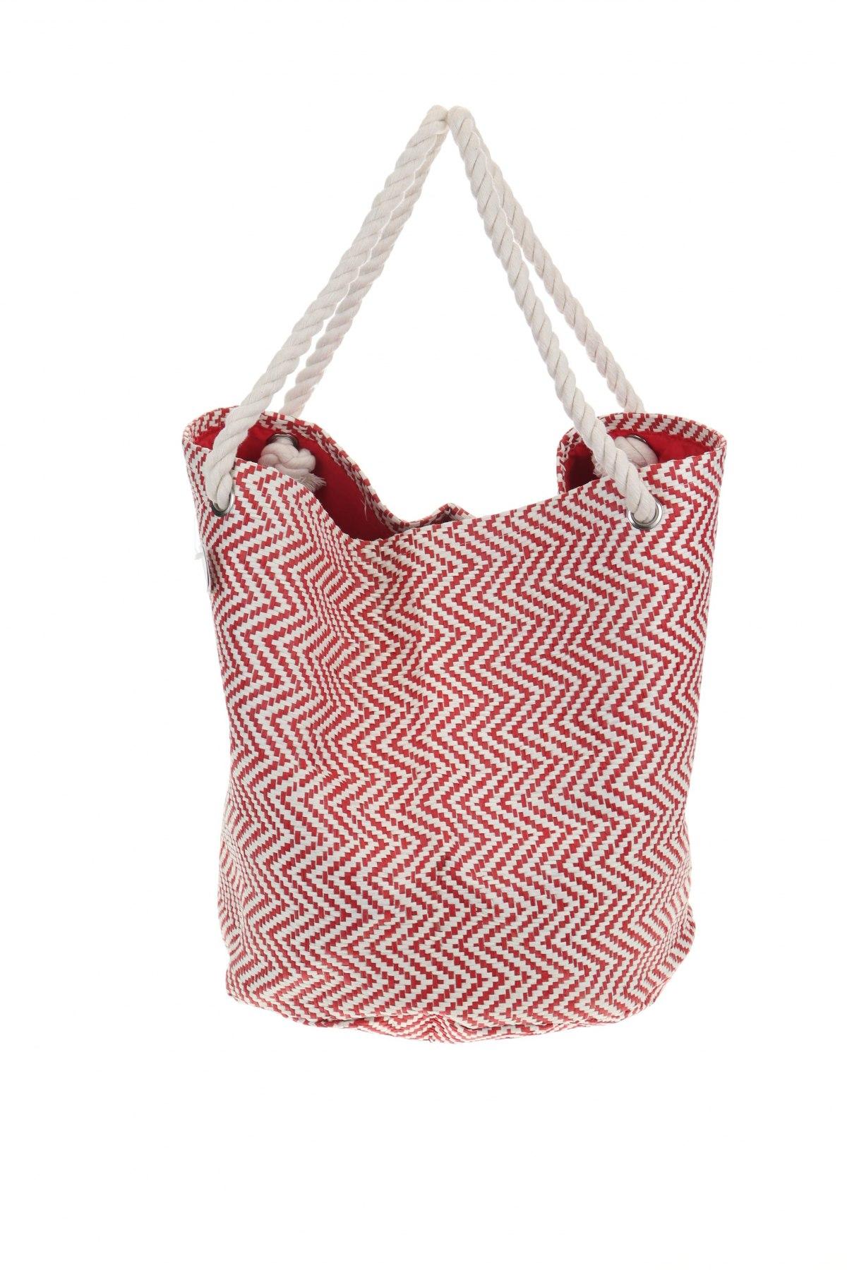 Чанта Reserved, Цвят Червен, Текстил, Цена 44,25лв.