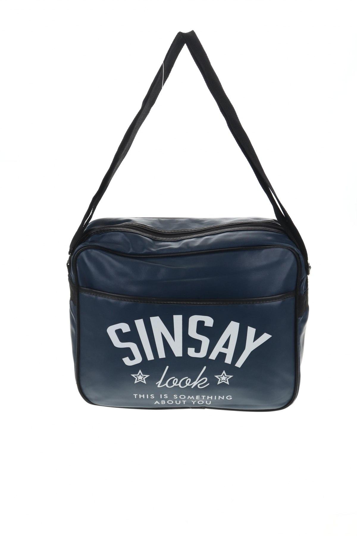 Чанта Sinsay, Цвят Син, Еко кожа, Цена 18,90лв.