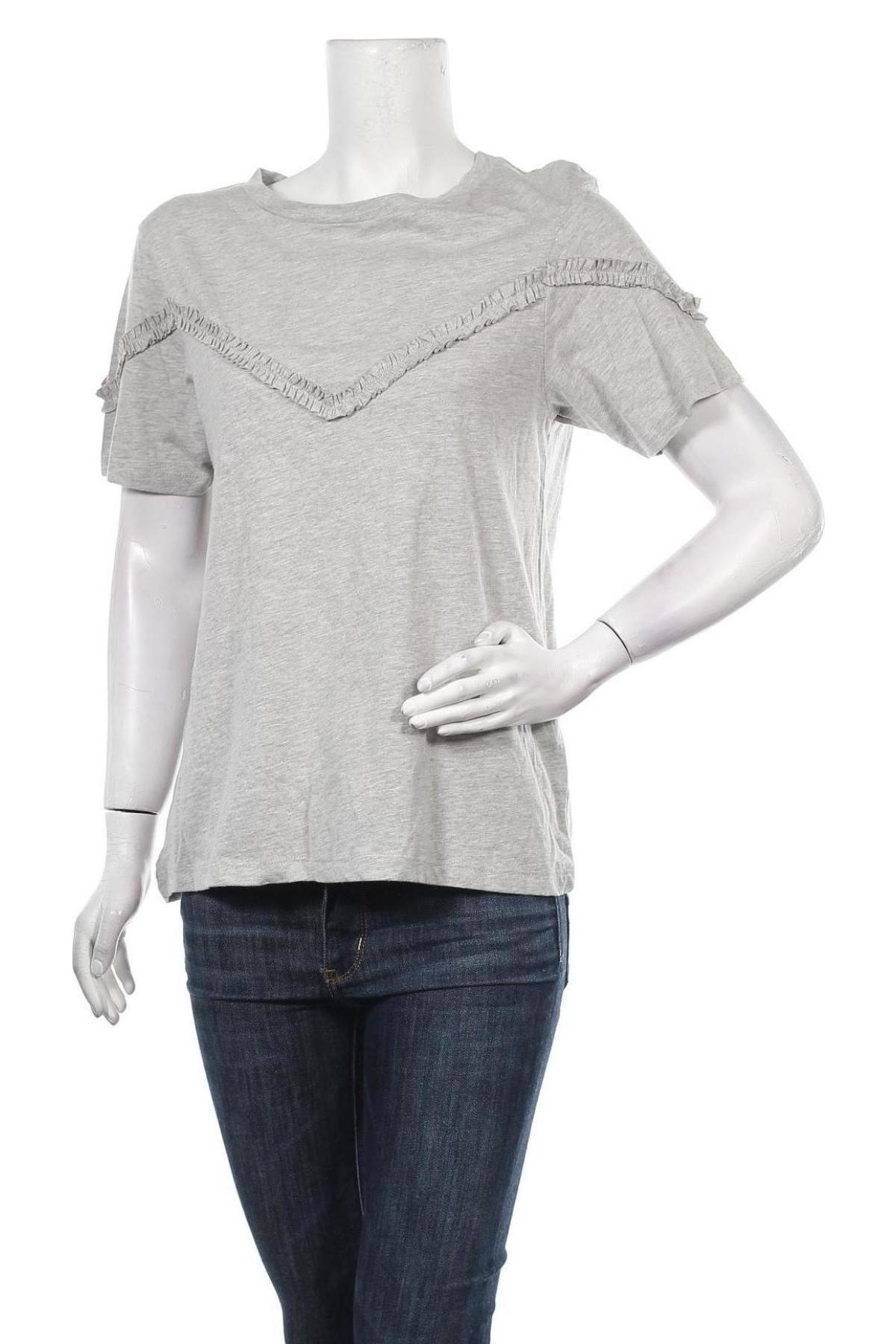 Дамска блуза Brave Soul, Размер S, Цвят Сив, 87% памук, 13% полиестер, Цена 27,00лв.