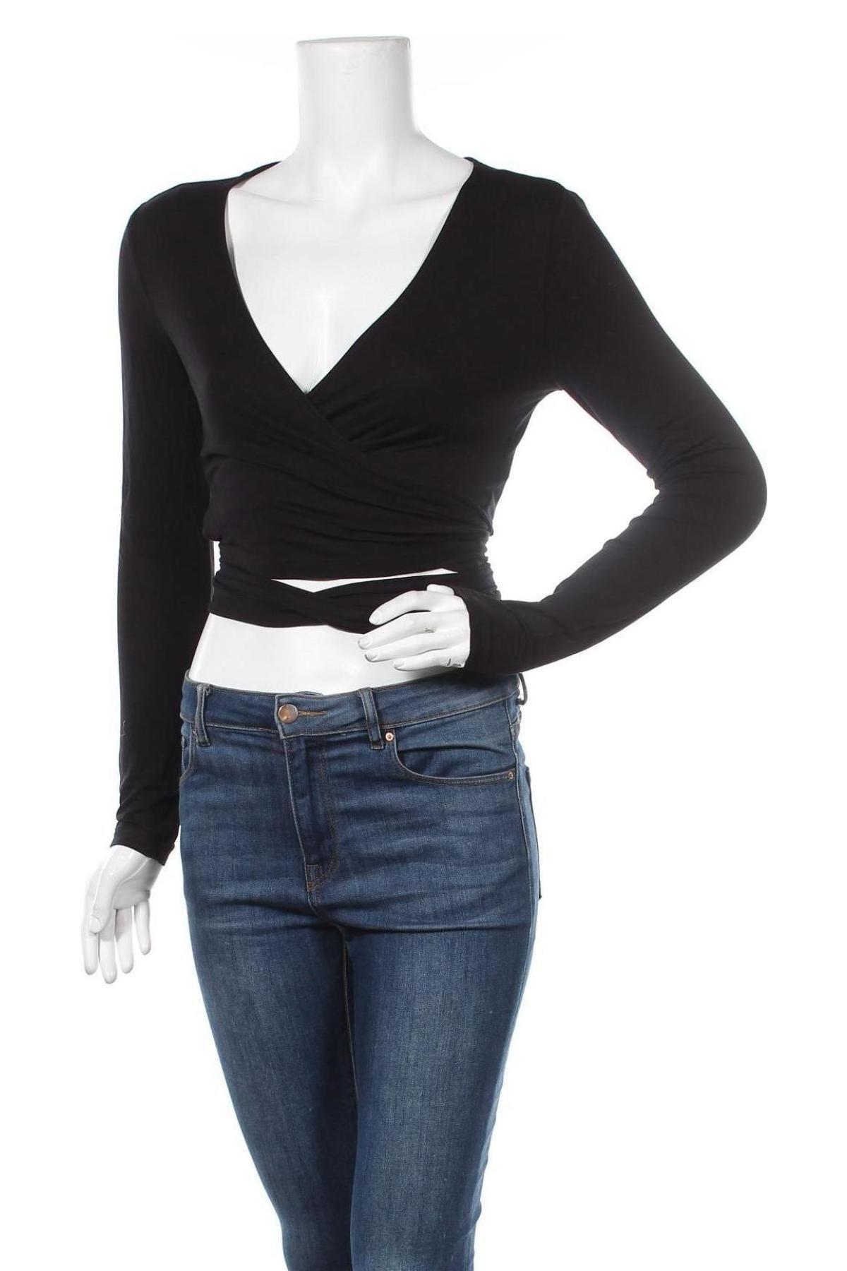Дамска блуза Even&Odd, Размер M, Цвят Черен, 95% вискоза, 5% еластан, Цена 28,50лв.