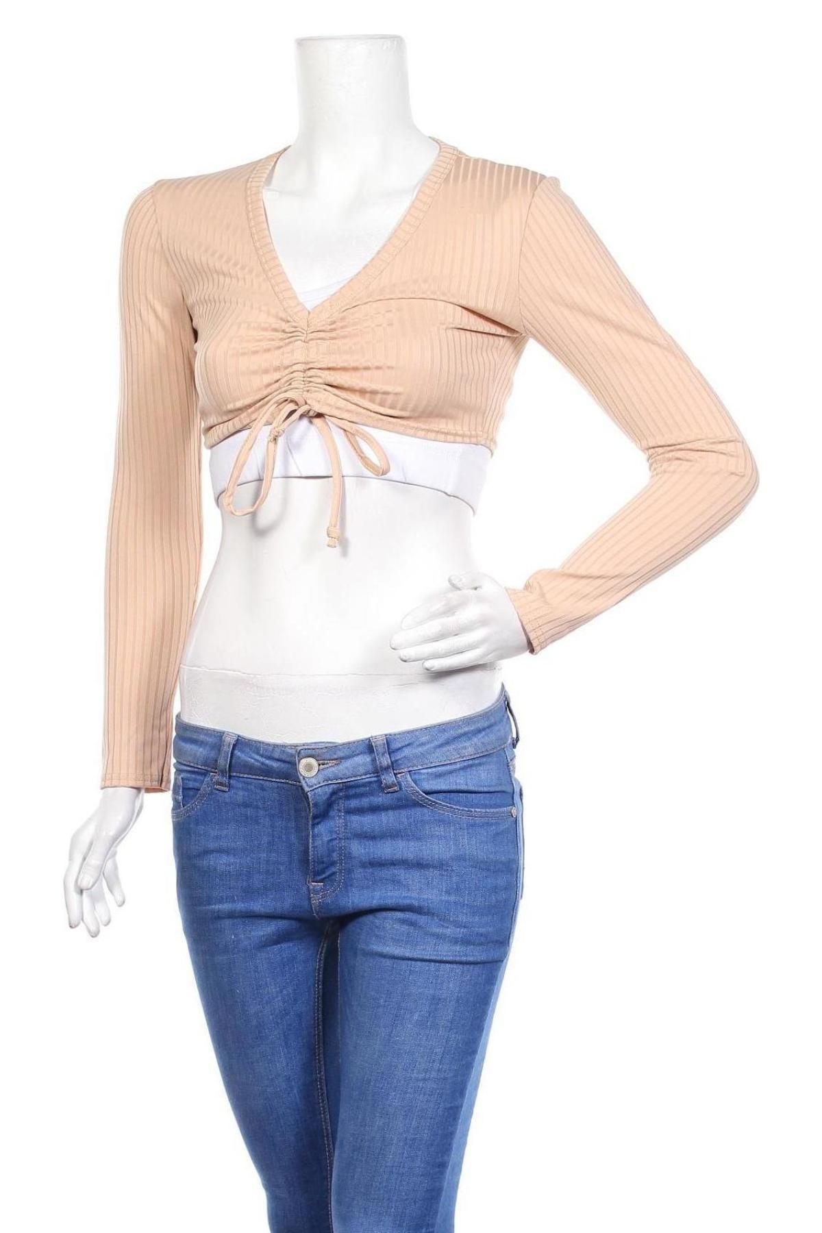 Дамска блуза Stylewise, Размер S, Цвят Сив, 95% полиестер, 5% еластан, Цена 25,50лв.