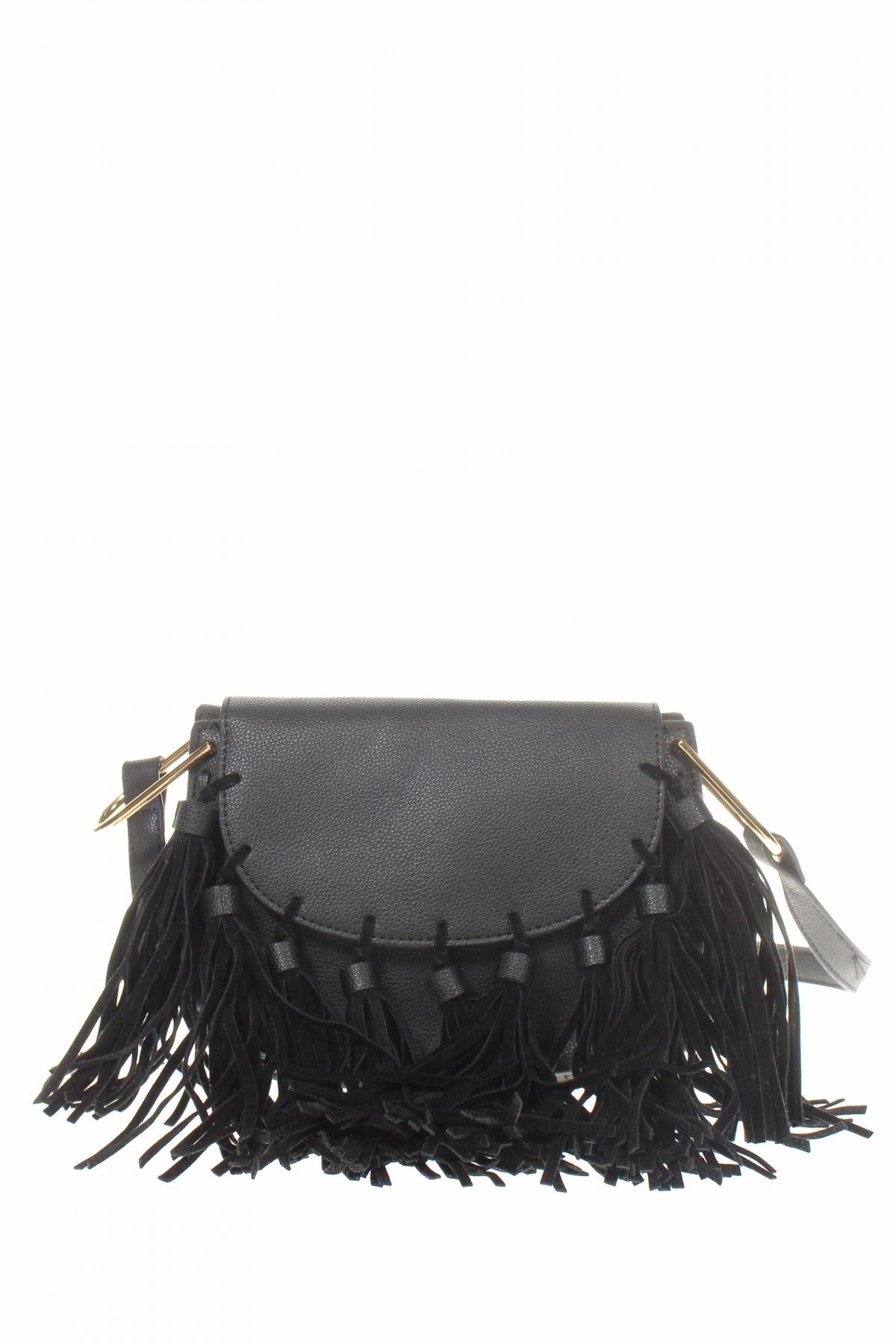 Дамска чанта Cropp, Цвят Черен, Еко кожа, Цена 15,36лв.